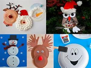 Objet En Carton Facile A Faire : 13 bricolages de no l avec des assiettes en carton ~ Melissatoandfro.com Idées de Décoration