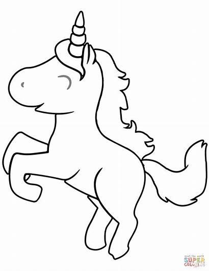 Unicorn Coloring Colorear Cartoon Unicornios Animados Dibujos