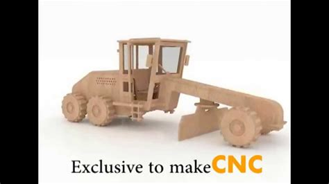 road grader wood toy  puzzle  cnc router laser