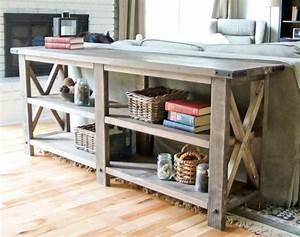 PDF Plans Rustic Sofa Table Plans Download oak plywood