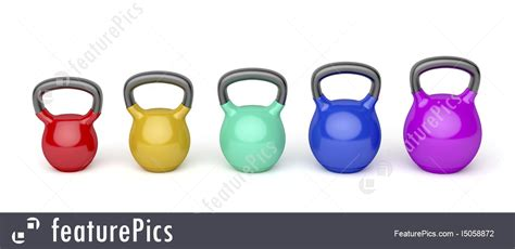 kettlebells sizes different colors