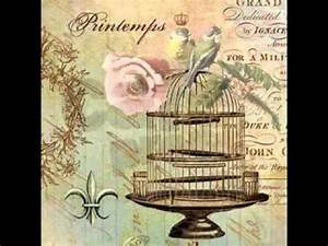 Shabby chic bird cage ideas - YouTube