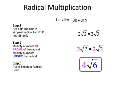 How To Do Simple Radical Form by Roots And Radical Expressions