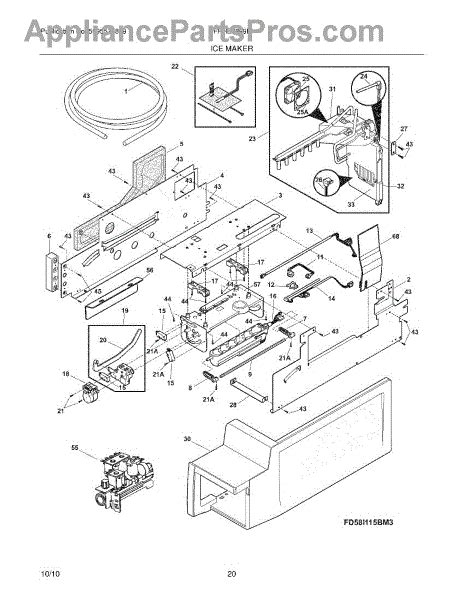 Parts For Frigidaire Fphblf Ice Maker