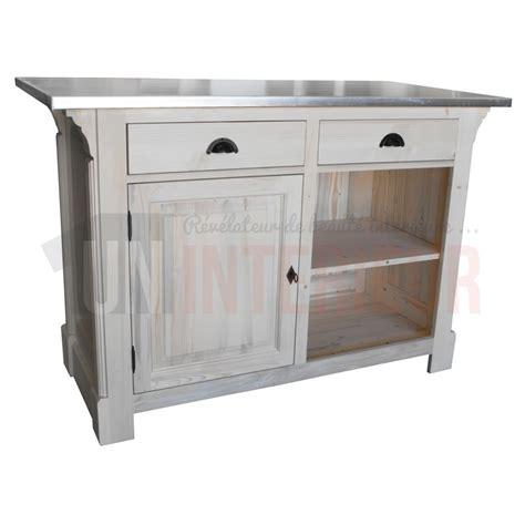 meuble comptoir cuisine comptoir passe plat 140cm pin massif en 140