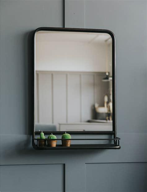 large industrial mirror  shelf   cloakroom