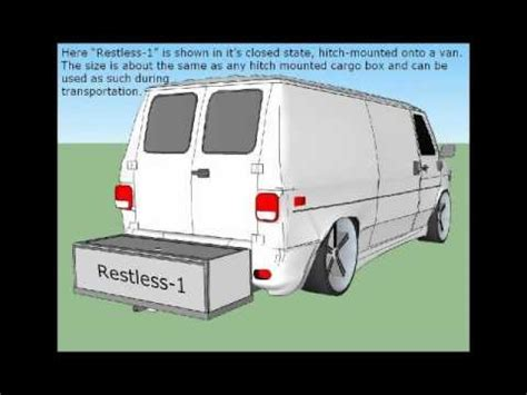 restless  hitch mounted canopies bathroom  truck tentcovers youtube