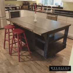 wood kitchen island cart distressed wood modern rustic kitchen island cart with walnut stained top