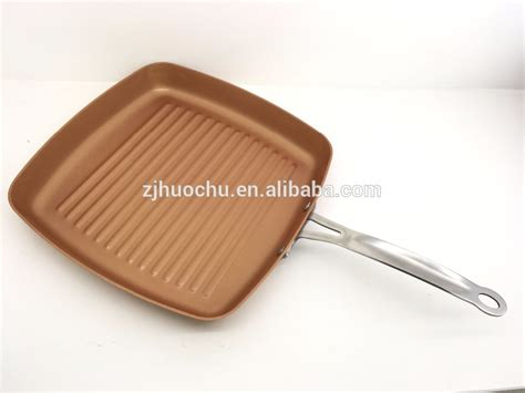 die cast aluminum  stick parini cookware  section divided frying pan  copper ceramic
