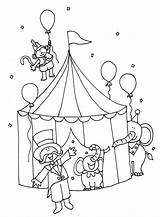 Coloring Circus Tent Printable Colouring Sheets Crafts Animal Worksheets Preschool Adults sketch template