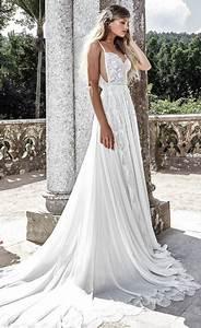 spaghetti strap side cut out pleated wedding dress With side strap wedding dress