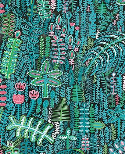 Lagoon Fabric Tropical A4 Lucy Tiffney Samples