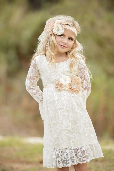 ivory flower girl dresses ideas  pinterest