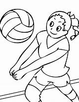 Volleyball Coloring Pages Printable Ball Sports Print Volleybal sketch template
