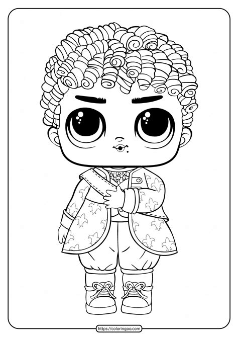 lol surprise boys  royal high ney coloring page