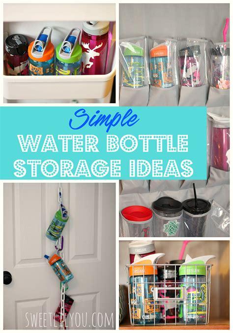 bottle l ideas simple water bottle storage ideas sweet lil you