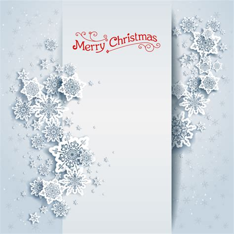 paper snowflake  white christmas cards vector