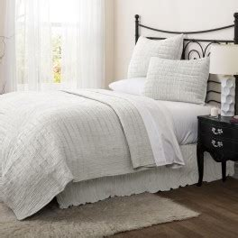 lush decor crinkle solid white quilt