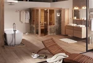 Salle de bain et sauna photo 5 20 une chaleureuse for Salle de bain avec sauna