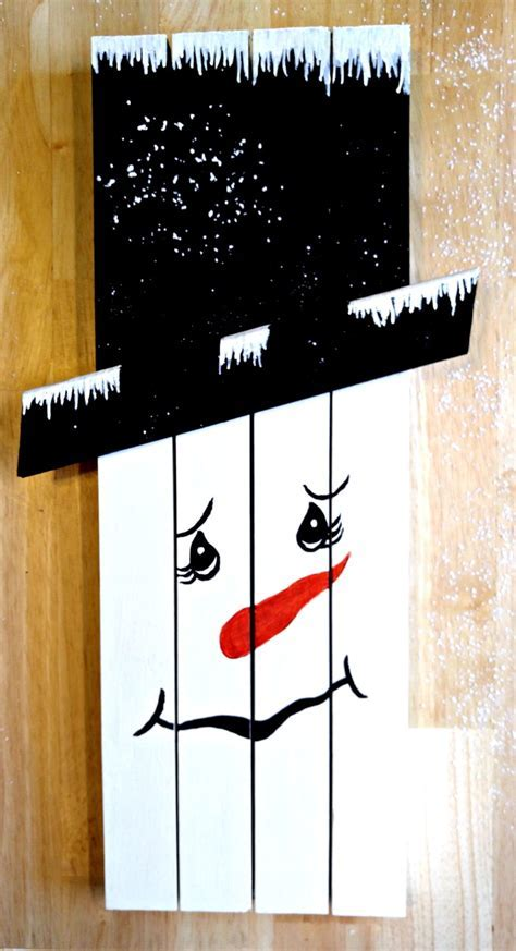 Snowman Wall Hanging   Rustic Christmas Decor Project