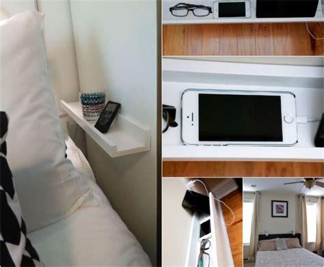 wandregal für schlafzimmer platzsparendes wandregal f 252 r kleine schlafzimmer ordnung