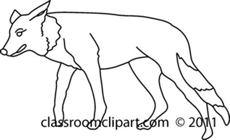 coyote clipart black and white animals 711 coyote 28bw classroom clipart