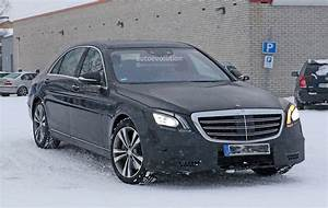 Mercedes Class S : 2018 mercedes benz s class facelift spyshots reveal new interior autoevolution ~ Medecine-chirurgie-esthetiques.com Avis de Voitures