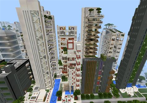 nxus city modern architecture series  buildings creation minecraft pe maps