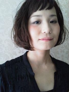 hair style of エネロ enero ヘアスタイル 黒髪でも短い前髪がかわいいフレンチボブ ホットペッパービューティー hair 8520