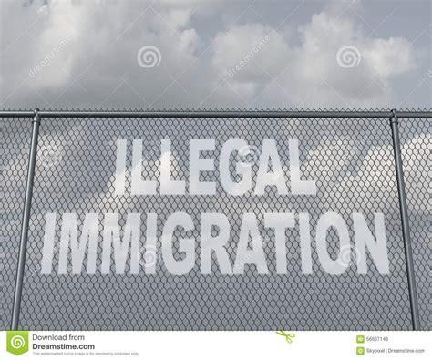 Illegal Immigration Stock Illustration