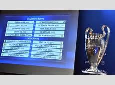 UEFA Champions League playoff draw UEFA Champions