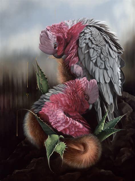 fierce feathered portraits  brooding birds  josie