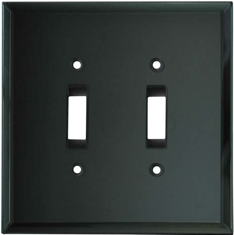 glass mirror smoke grey switch plates outlet covers