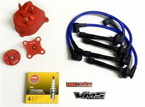 Distributor Cap Rotor Spark Plug Wire Kit For 92