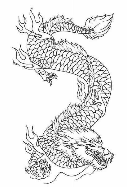 Dragon Draw Drawing Chinese Coloring Step Pages