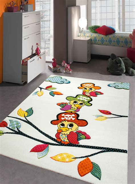 tapis chambre tapis chambre enfant perroquet creme de la collection