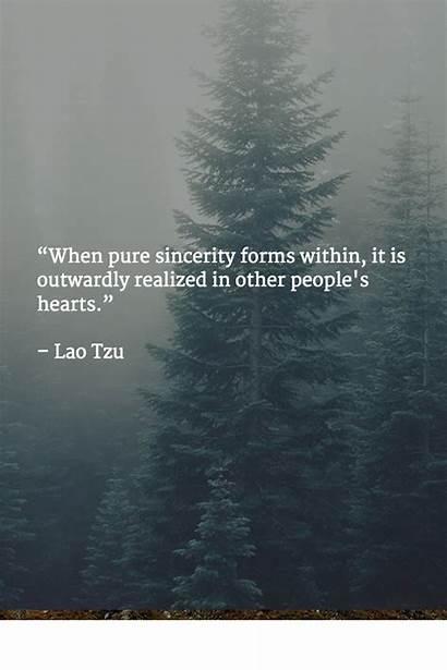 Lao Quotes Sincerity Tzu Inspirational Taoism Pure