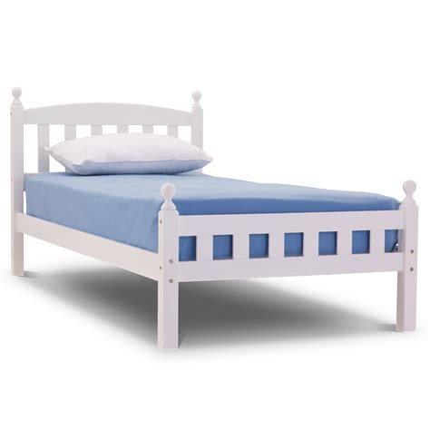 bed for florence wooden bed frame with mattress and bedding bale