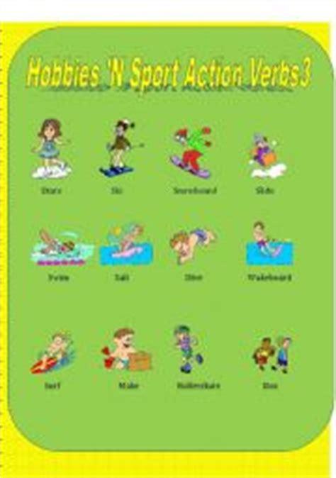 hobbies  sports action verbs