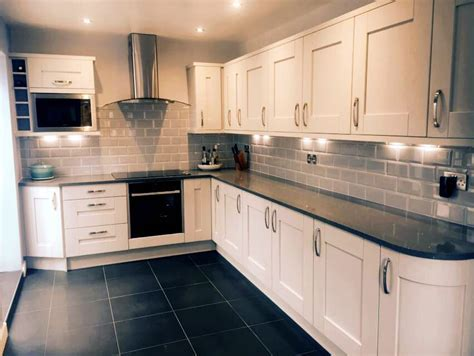 Fitted kitchen in Wollaston, by The Gallery: Light grey