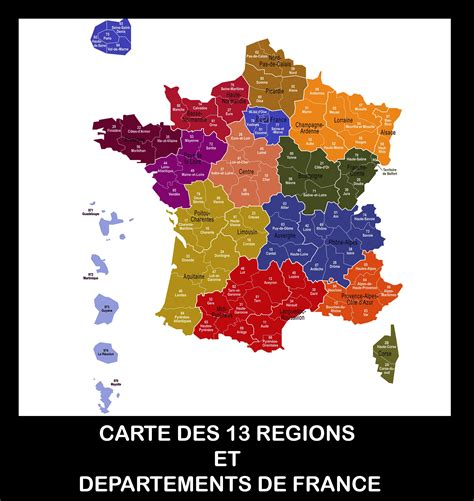 Carte De Region Et Departement Vierge by Carte De Avec Les Regions Et Departements The