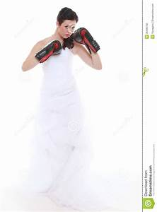 emancipation idea bride in wedding dress boxing gloves With boxing wedding dress