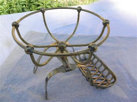 vintage solid brass soap dish bath tub rack  antique clawfoot bathtub