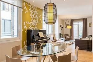 Décoration Salon Jaune Moutarde : cuisine mur jaune moutarde ~ Melissatoandfro.com Idées de Décoration