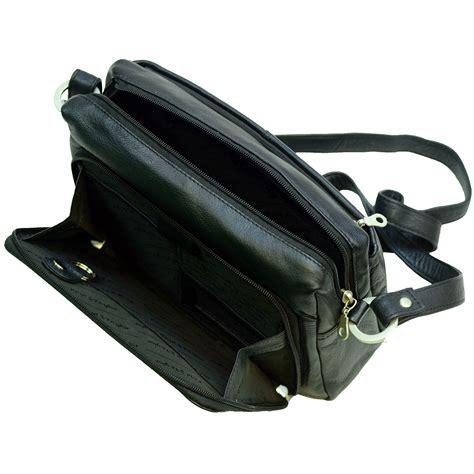 womens medium shoulder bag built  wallet genuine leather