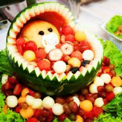 Watermelon Baby Carriage Fruit Basket