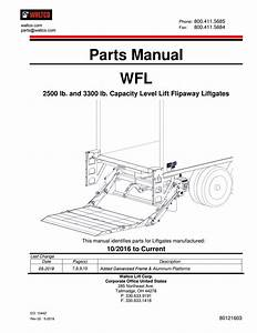 Waltco Wfl Series Liftgate Parts Manual By The Liftgate