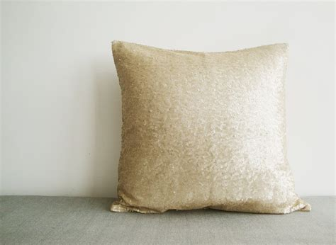 Light Gold Sequin Pillow Cover , Matt Beige Sequin Sewing Christmas Tree Decorations Out Of Paper David Jones Large Sale How To Decorate Cubicle For Dog Religious Outdoor Chair
