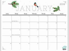 Cute 2018 Calendar calendar monthly printable
