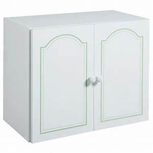Meuble Haut De Salle De Bain : meuble haut 2 portes salle de bain belle ile filet vert ~ Louise-bijoux.com Idées de Décoration